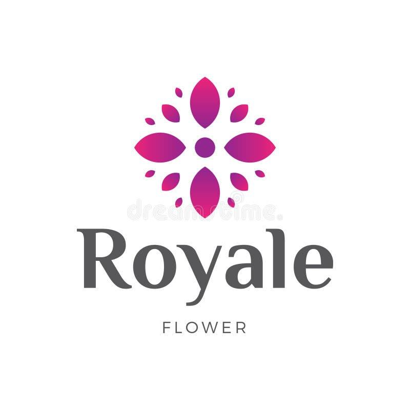 Yoga real de la flor, hotel, chalet, belleza Logo Design foto de archivo