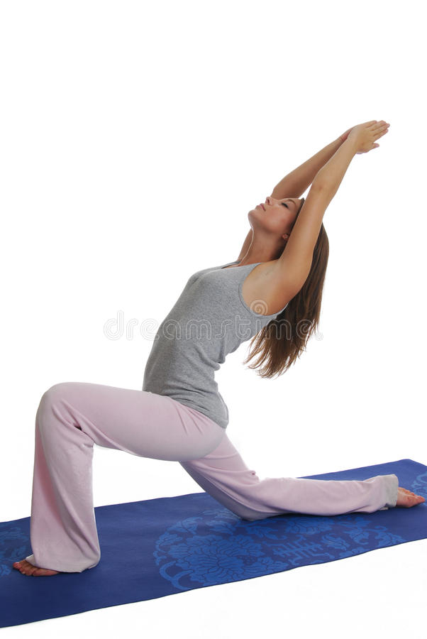 Yoga routine royalty free stock images