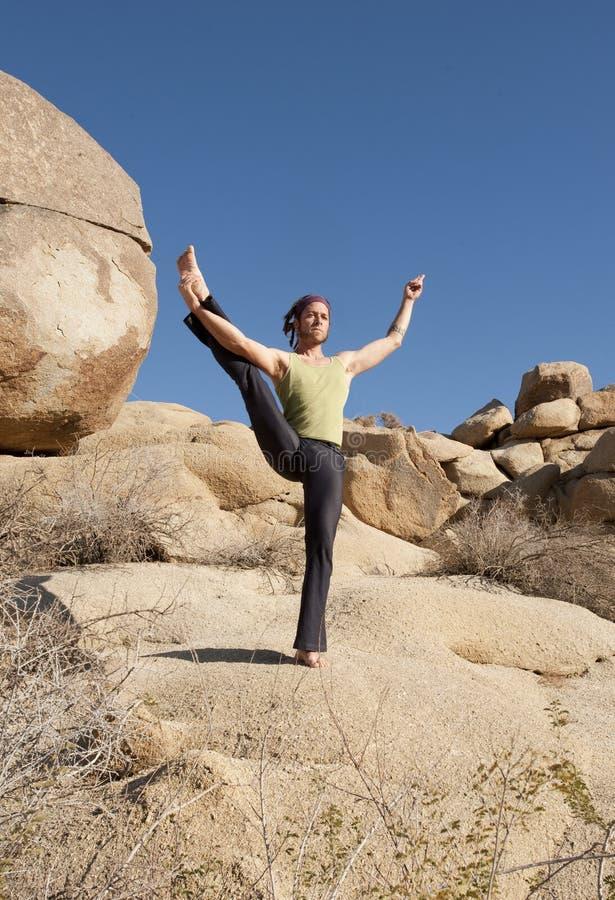 Yoga-Schwerpunkt lizenzfreies stockbild