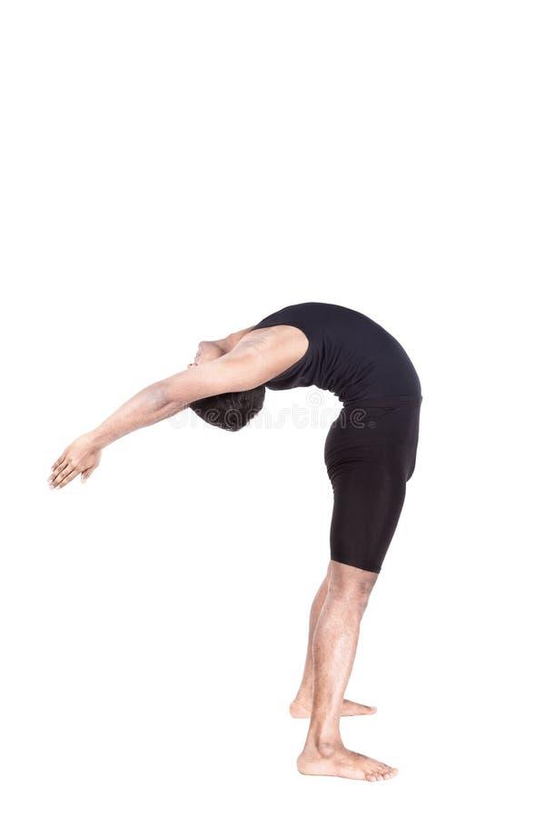 Yoga se pliant vers l'arrière photo stock