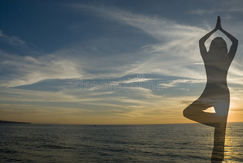 Yoga silhouette 2 stock photography