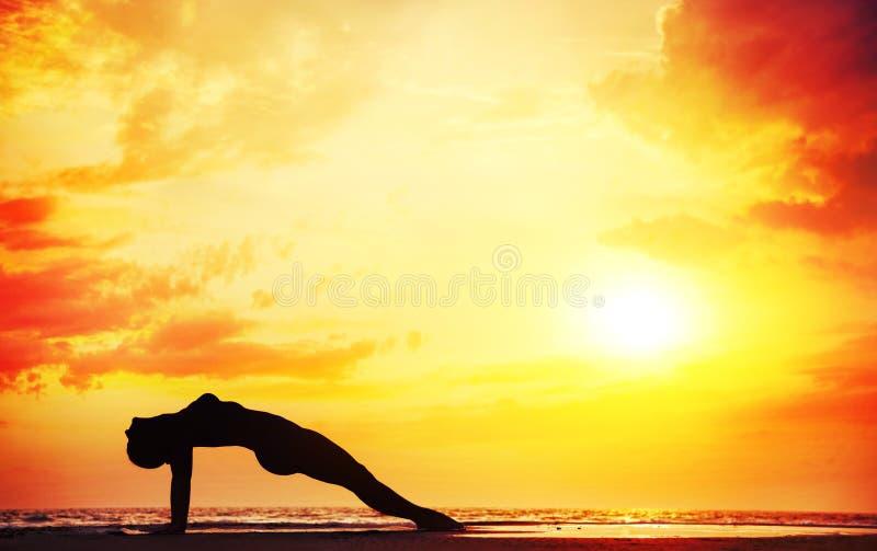 Yoga silhouette royalty free stock photo