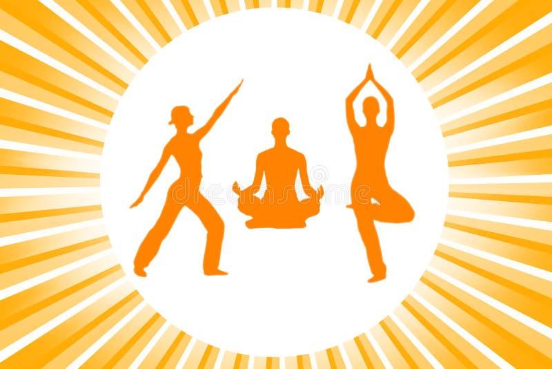 Yoga silhouettes vector illustration