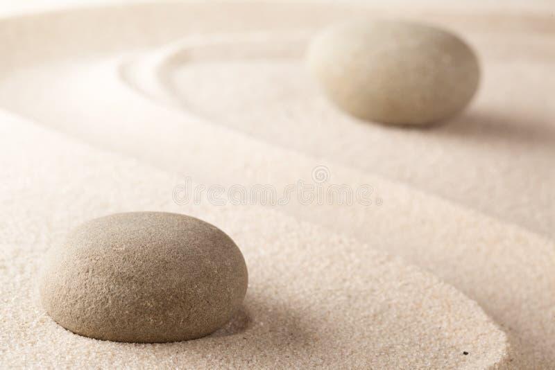 Yoga or spa wellness background of a Japanese zen garden stock photos