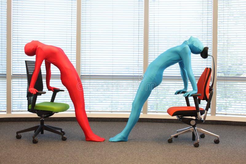 yoga straniera fotografie stock