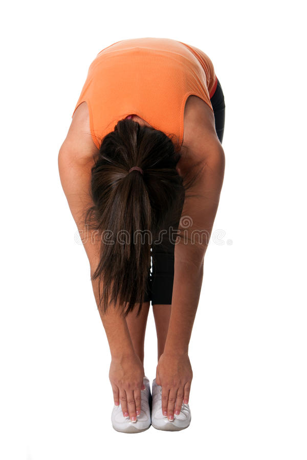 Download Yoga stretching toe touch stock image. Image of flexibility - 24867903