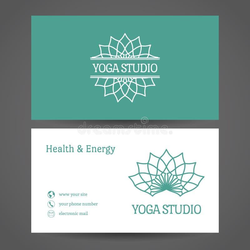 Yoga Studio Vector Business Card Template Stock Vector ...