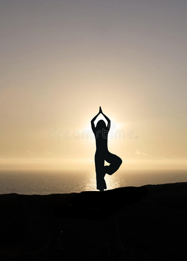 Download Yoga at sunset stock photo. Image of happy, believe, health - 13661584