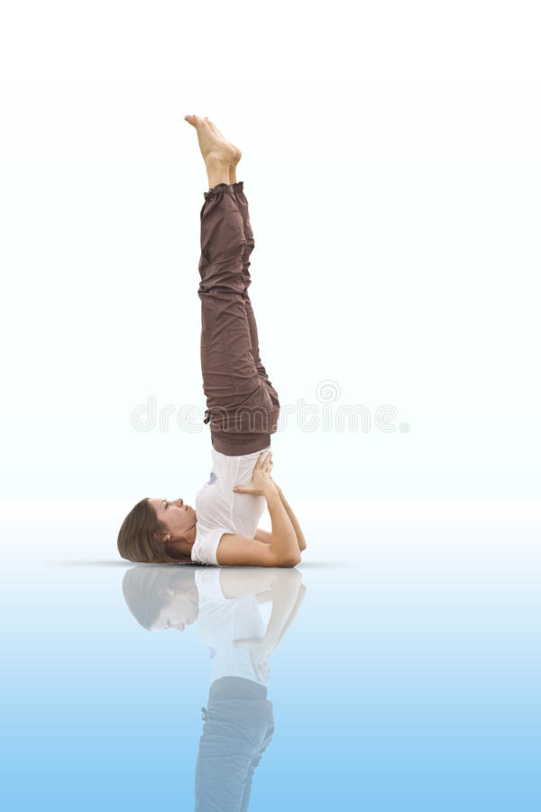 Yoga teacher stock photography