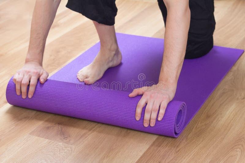 Yoga teacher royalty free stock image