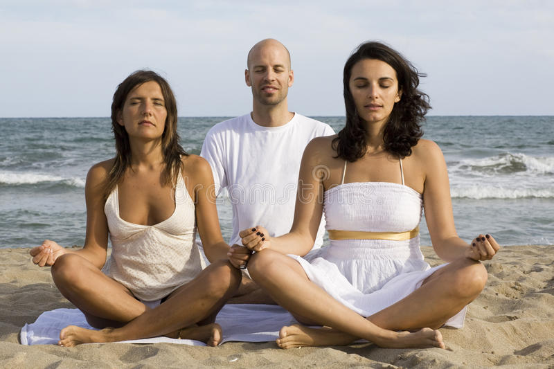 Download Yoga by three stock image. Image of free, relaxation - 10503561