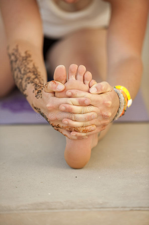 Download Yoga Toes stock photo. Image of retreat, touch, hand - 26288520