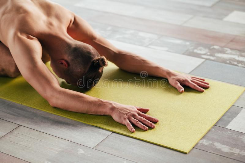 Yoga training sport wellness lifestyle gym workout royalty free stock photo