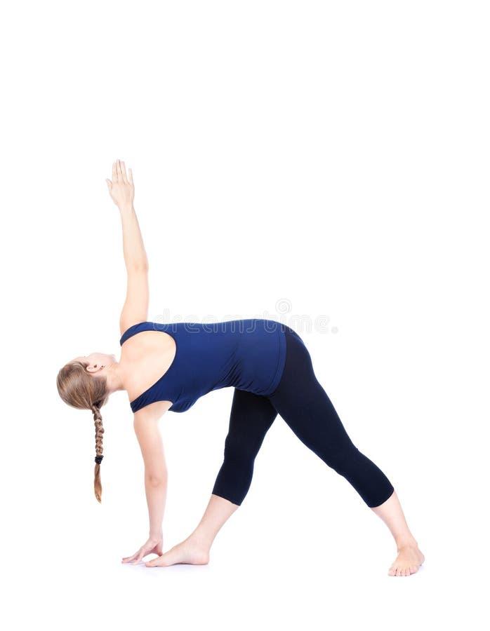 Download Yoga triangle pose stock image. Image of instructor, parivarta - 22018341