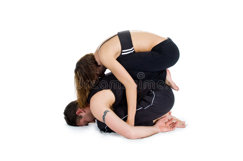 Download Yoga For Two - Series Royalty Free Stock Photography - Image: 5093807