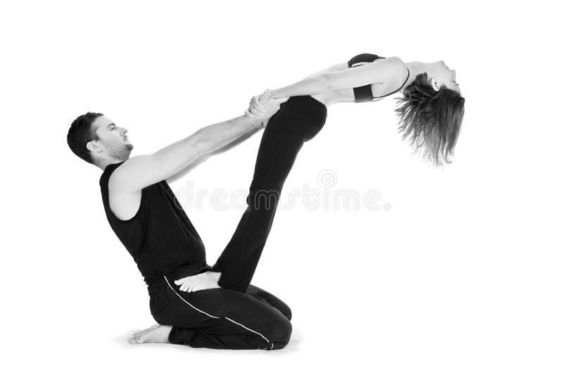 Yoga for Two - Series stock photos