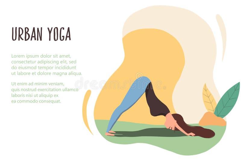Yoga urbana 11 ilustración del vector