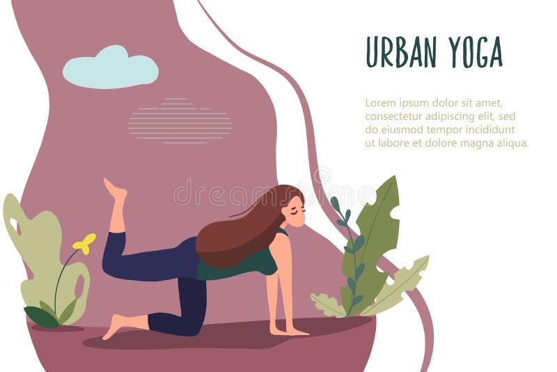 Yoga urbana 15 para las mujeres libre illustration