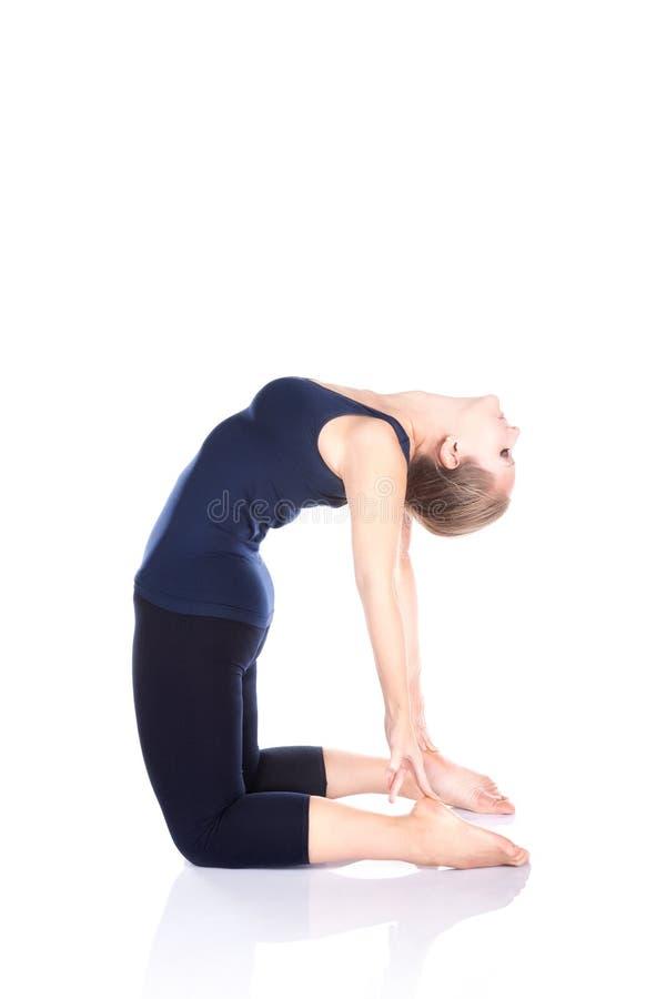 Yoga ushtrasana camel pose royalty free stock image