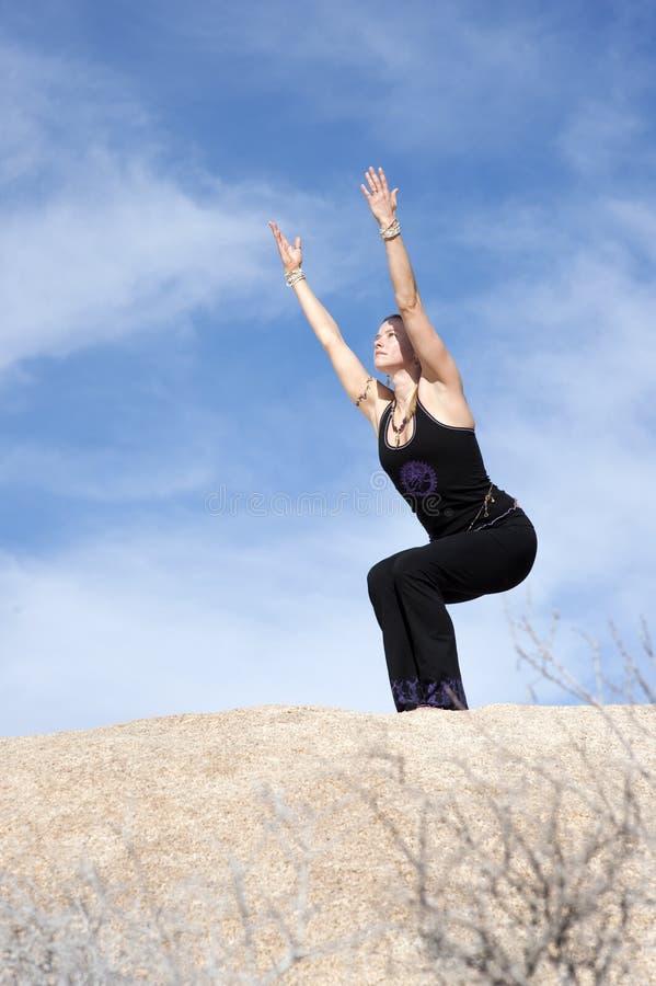 Yoga Utkatasana royalty-vrije stock afbeelding
