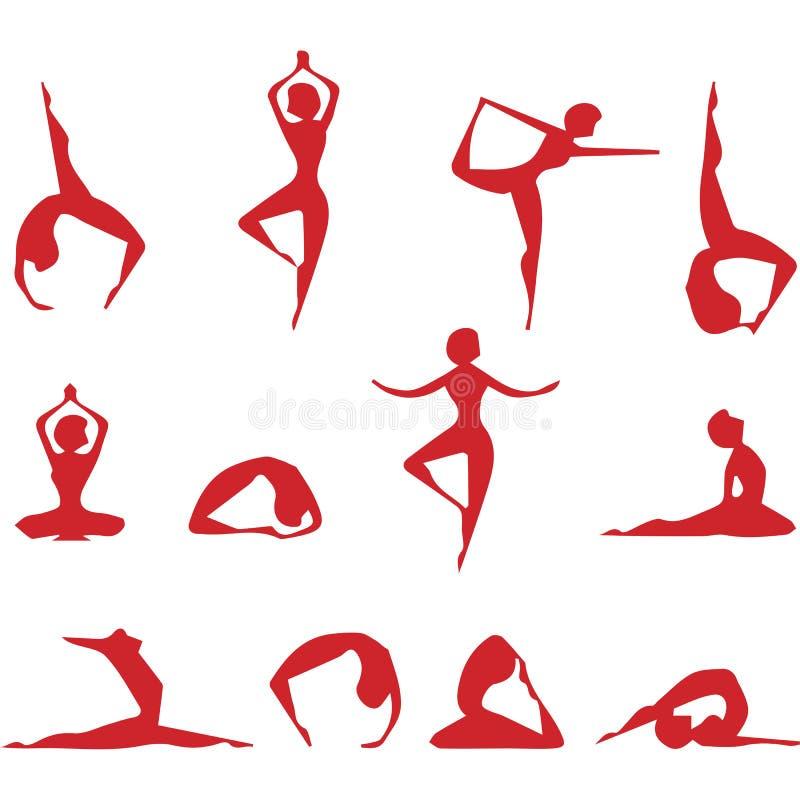 yoga voor allen vector illustratie