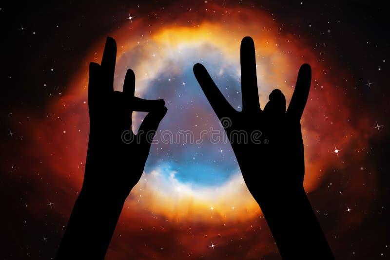 Yoga voor vingers vector illustratie