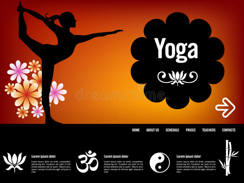 Download Yoga Website Template Royalty Free Stock Image - Image: 19845826