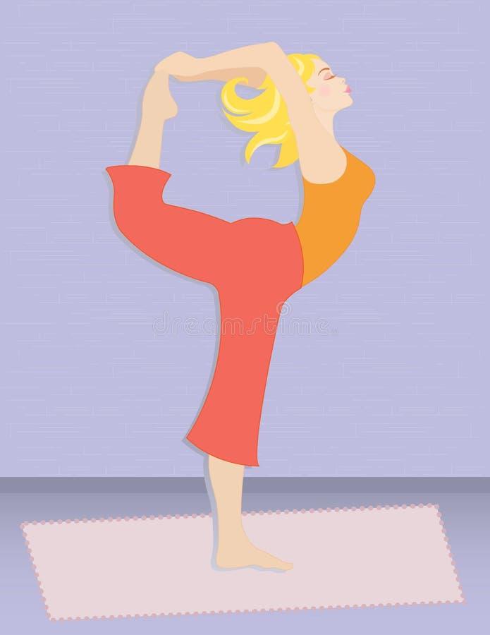 Yoga Woman royalty free illustration