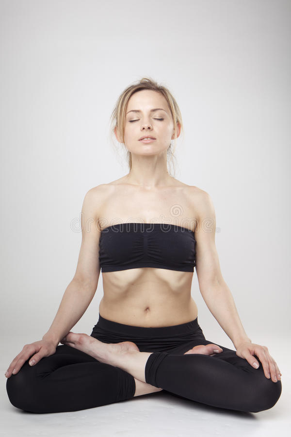 Download Yoga Woman stock photo. Image of healthy, female, peaceful - 14964780