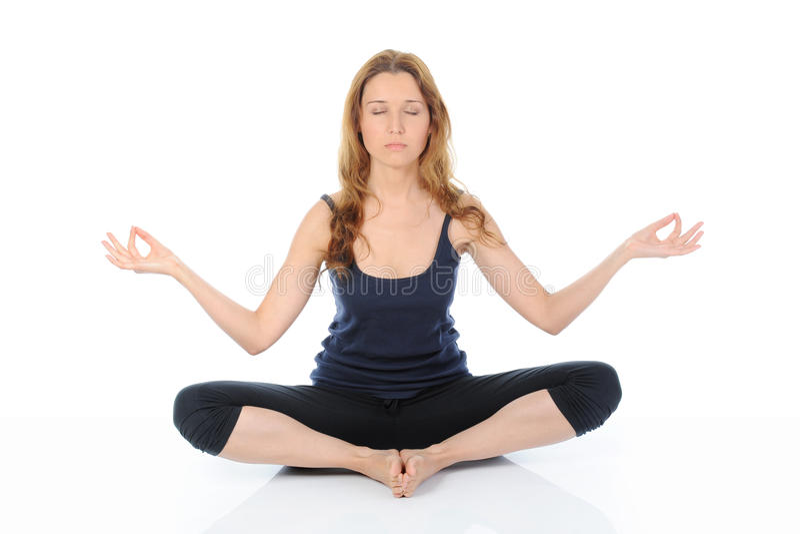Download Yoga woman stock image. Image of crossed, meditating - 20024679