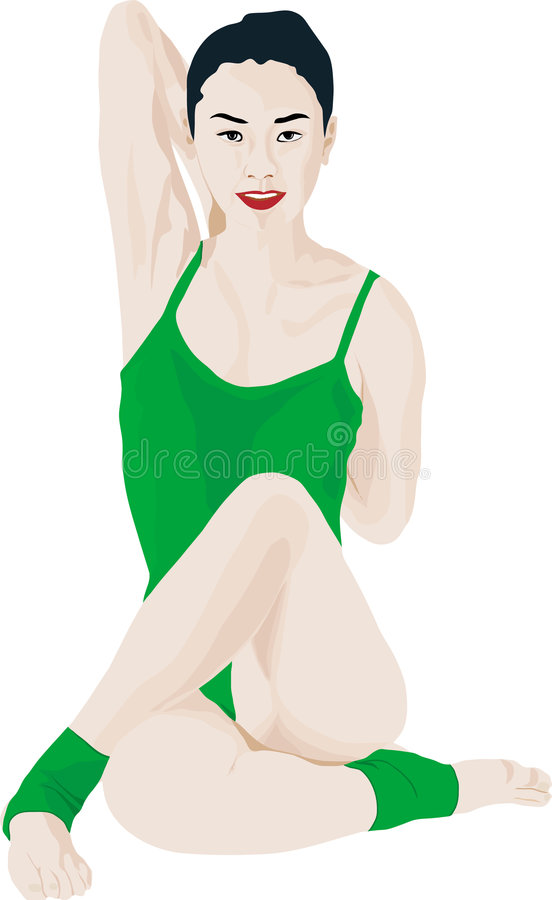 Download Yoga woman stock vector. Image of energy, lifestyle, charging - 2115873