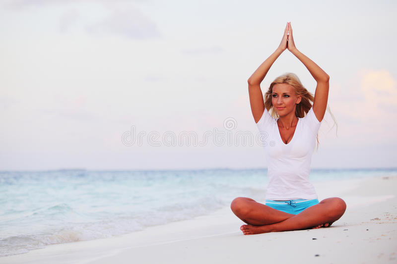Download Yoga woman stock photo. Image of relaxation, lotus, holiday - 23353900