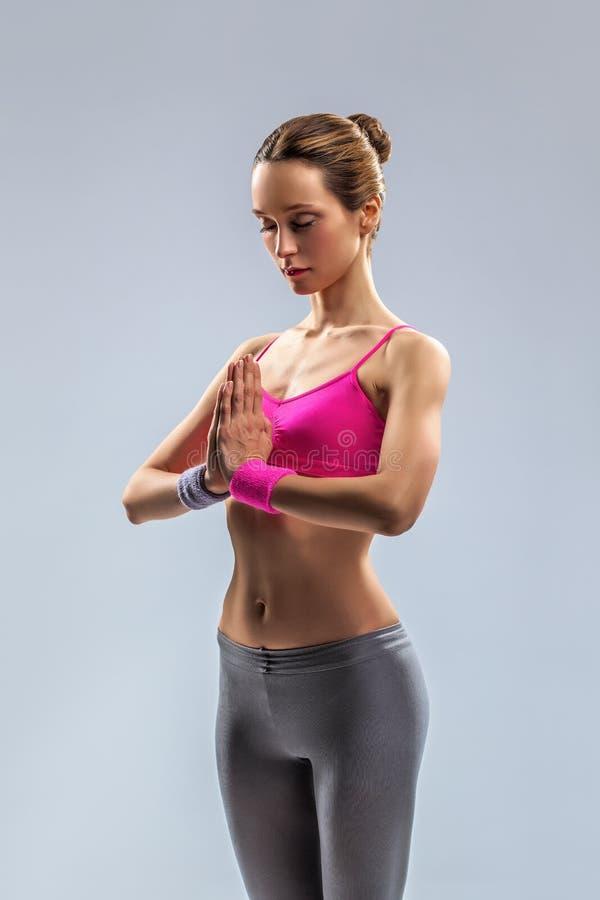 Download The yoga woman stock photo. Image of beauty, harmony - 28857360