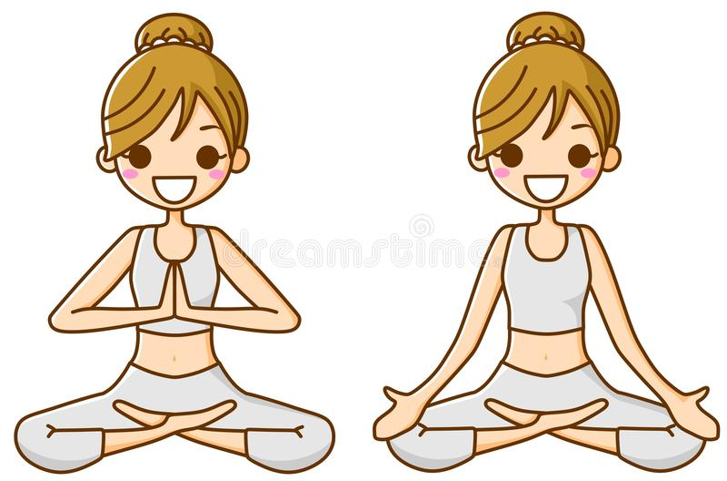 Download Yoga for women stock illustration. Image of smiling, diet - 22095737