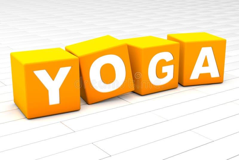 Yoga word vector illustration