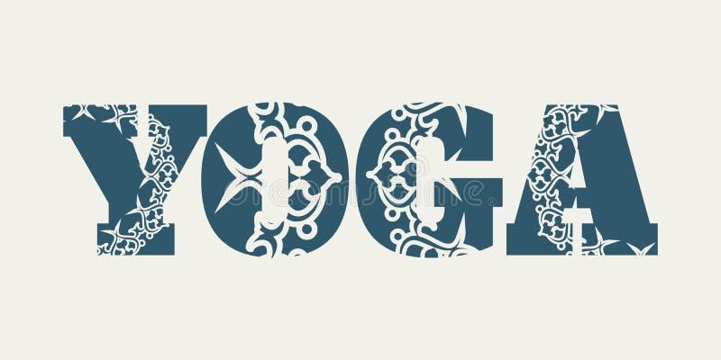 Yoga word design vector illustration