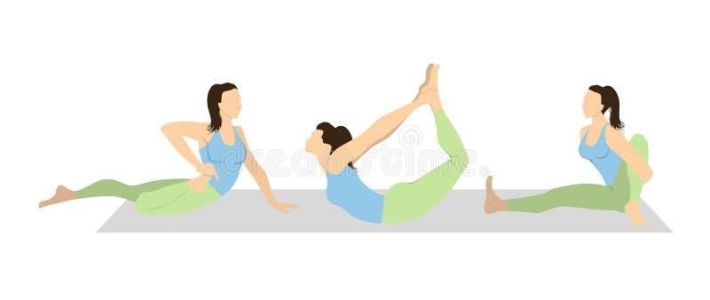 Yoga workout set. vector illustration