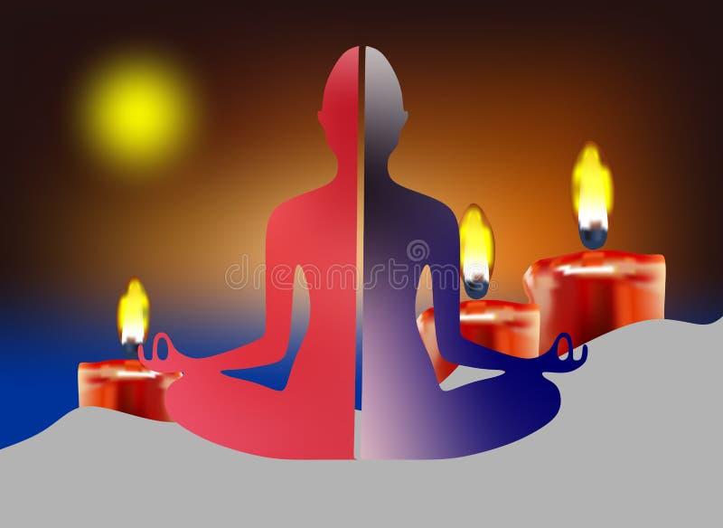 Yoga y meditación foto de archivo libre de regalías