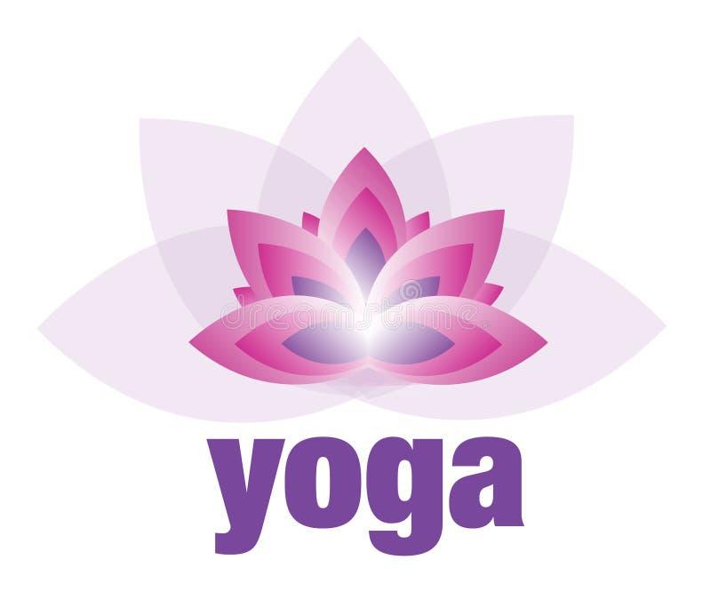 Yoga y meditación Lotus Flower Logo stock de ilustración