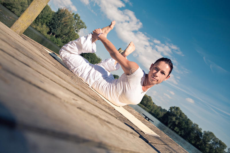 Download Yoga stock image. Image of young, nature, summer, exercise - 30422771