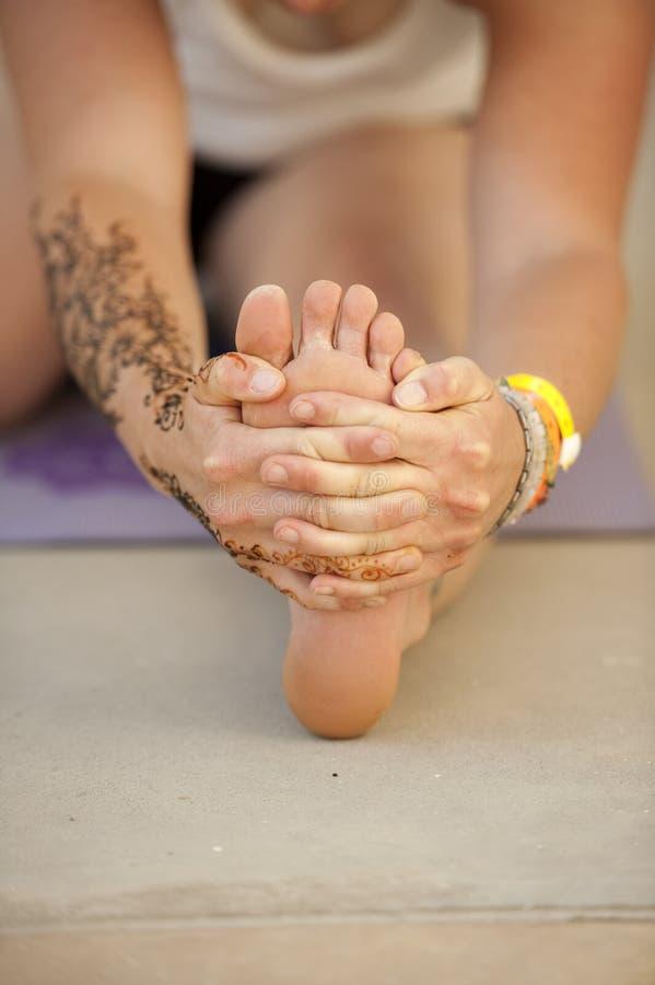 Yoga-Zehen stockfoto