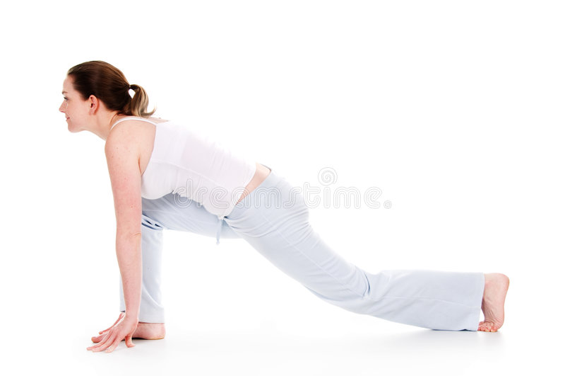 Yoga-Zeit stockfoto
