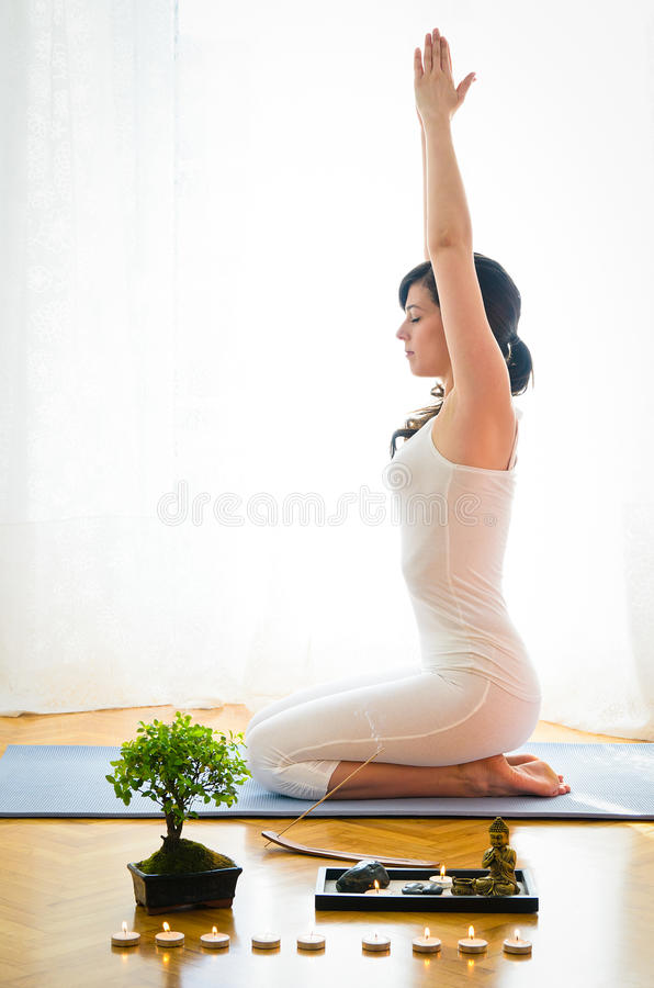 Yoga and Zen royalty free stock photo