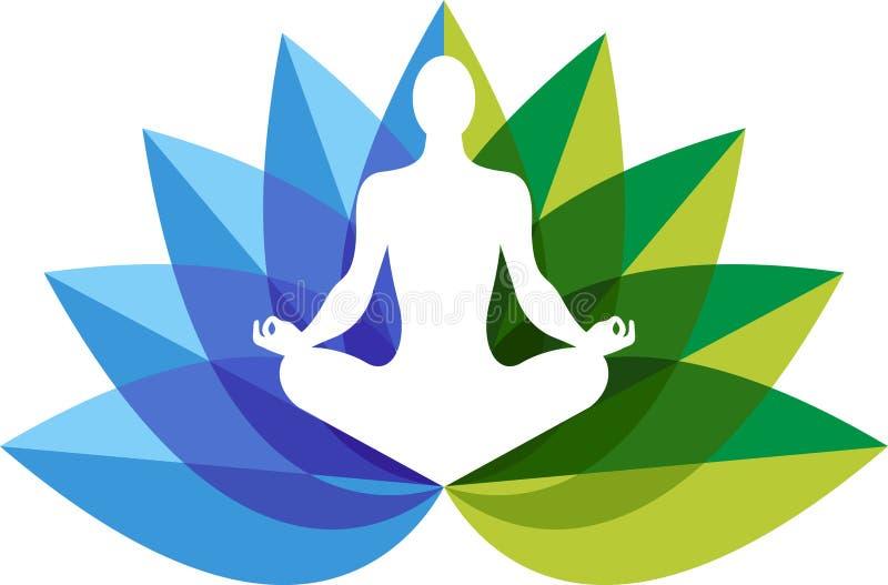 Yoga zen embleem royalty-vrije illustratie