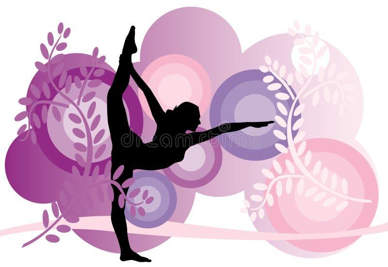 Yoga02 illustration de vecteur