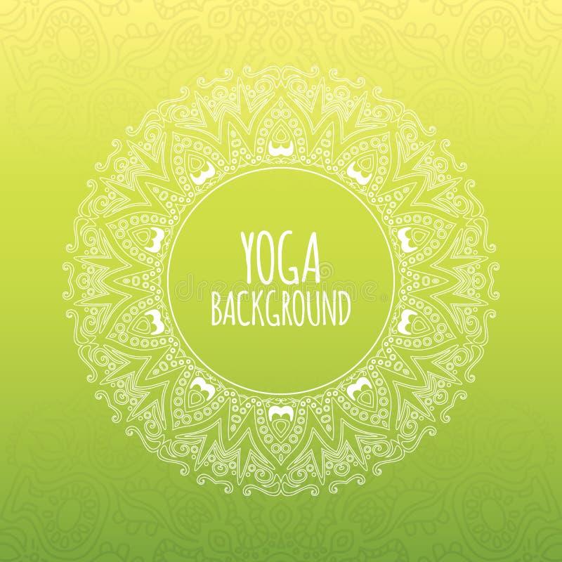 Yogabakgrund royaltyfri illustrationer