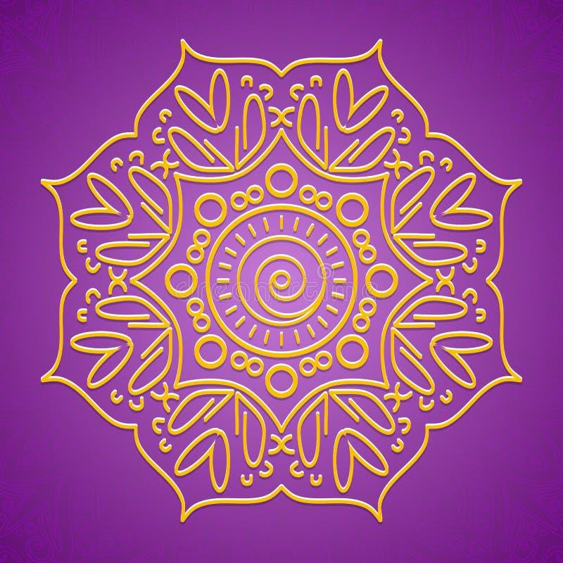 Yogabakgrund vektor illustrationer