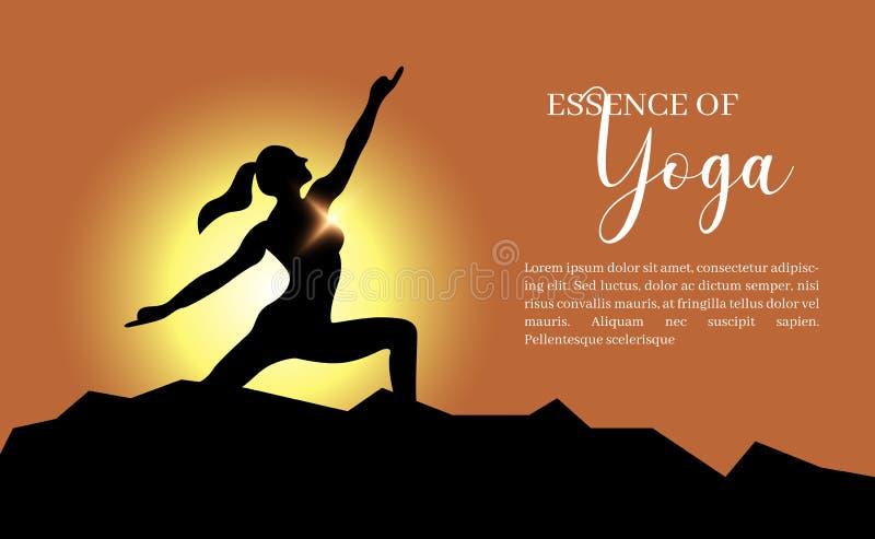 Yogabakgrundsmall stock illustrationer