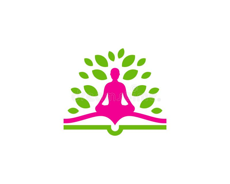 Yogaboek Logo Icon Design vector illustratie