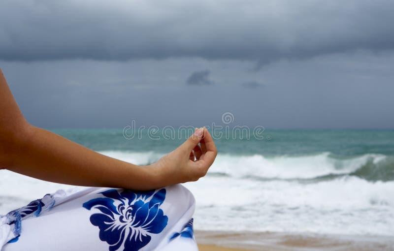 Yogafinger lizenzfreies stockbild